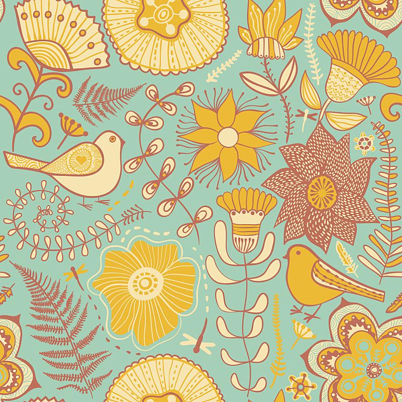 仅一朵花,纹理,蝴蝶,自然,式样,纺织品,无人,蓝色,绘画插图,鸟类