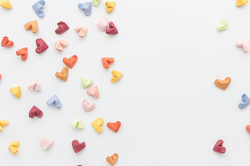 纸,彩色图片,视角,动物心脏,太空,式样,幸福,水平画幅,形状,小的