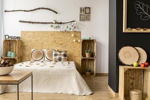 卧室,木制,舒服,褐色,水平画幅,无人,工作室,现代,叶子,时尚