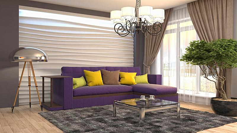 绘画插图,室内,起居室,三维图形,褐色,座位,水平画幅,无人,家具,普罗旺斯