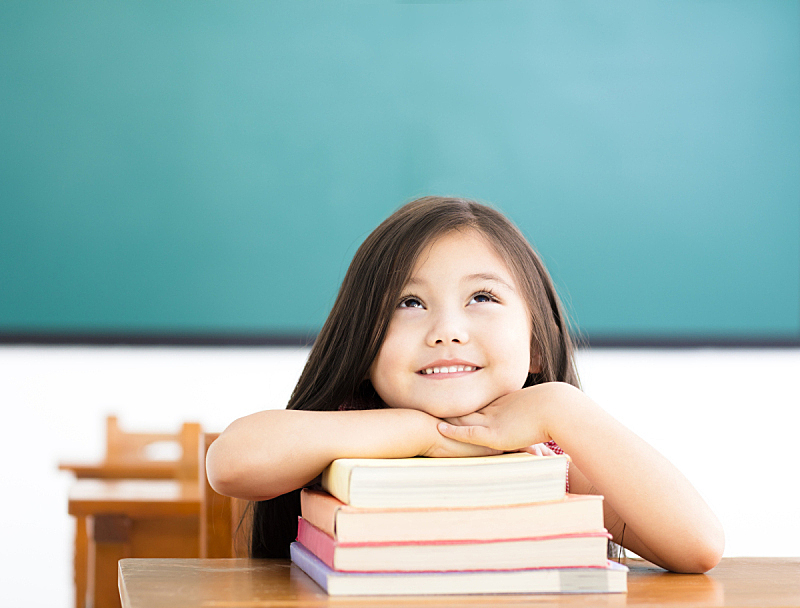 教室,书,女孩,幸福,儿童教育,可爱的,学校,学生,儿童,知识