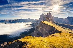 美,多洛米蒂山脉,意大利,地球,上阿迪杰,桨叉架船,方向,欧洲,探险,布置