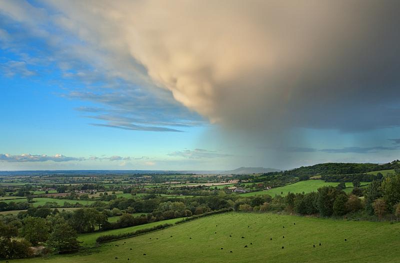 雨,格洛斯特郡,水,天空,留白,暴风雨,水平画幅,无人,英格兰,落下