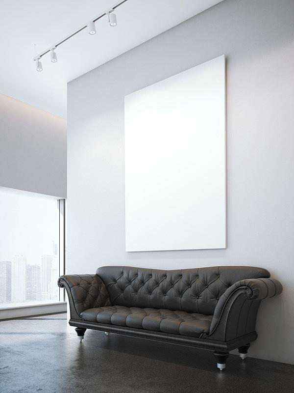 褐色,沙发,室内,极简构图,三维图形,垂直画幅,窗户,住宅房间,建筑