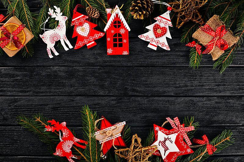 圣诞树,背景,新的,边框,水平画幅,无人,古老的,空的,冬天