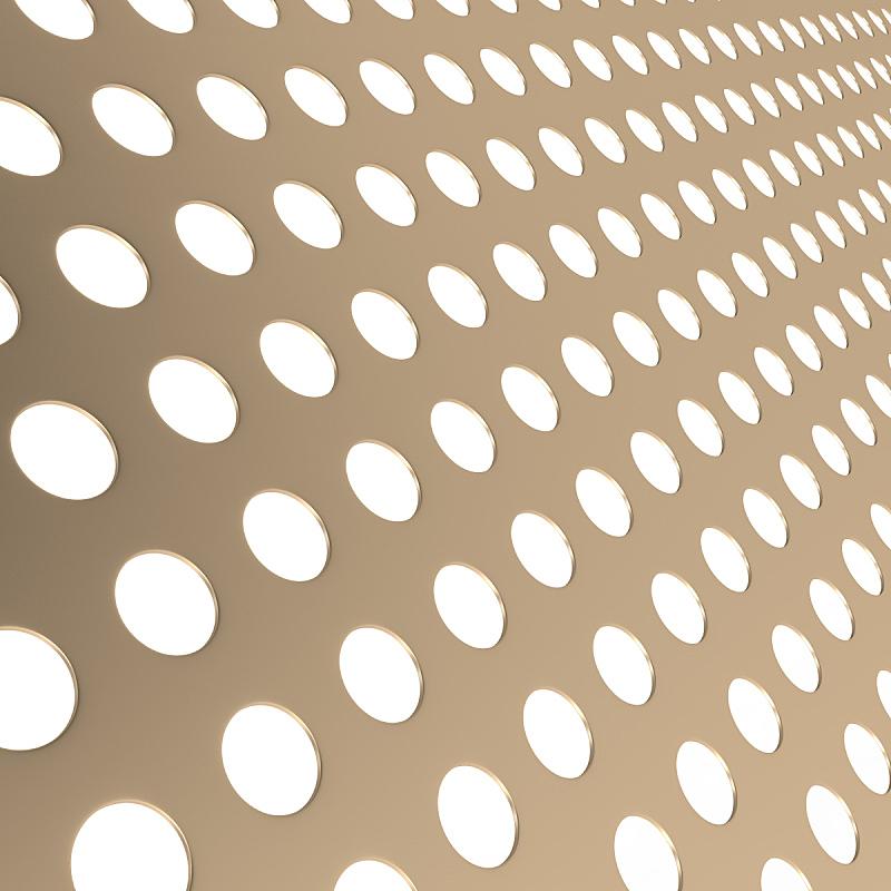 金属,穿孔的,背景聚焦,圆形,式样,黄金,洞,形状,无人,绘画插图