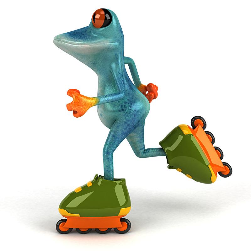 青蛙,绘画插图,自然,野生动物,四轮冰鞋,高个子,人类脚趾,方形画幅,热带气候,动物
