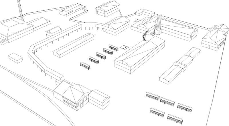 工业建筑,仓库,门口,外立面,水平画幅,墙,工作场所,建筑,无人,巨大的