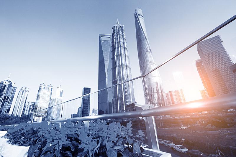 陆家嘴,上海环球金融中心,组物体,浦东,顶部,建筑业,国际著名景点,高处,著名景点,商务