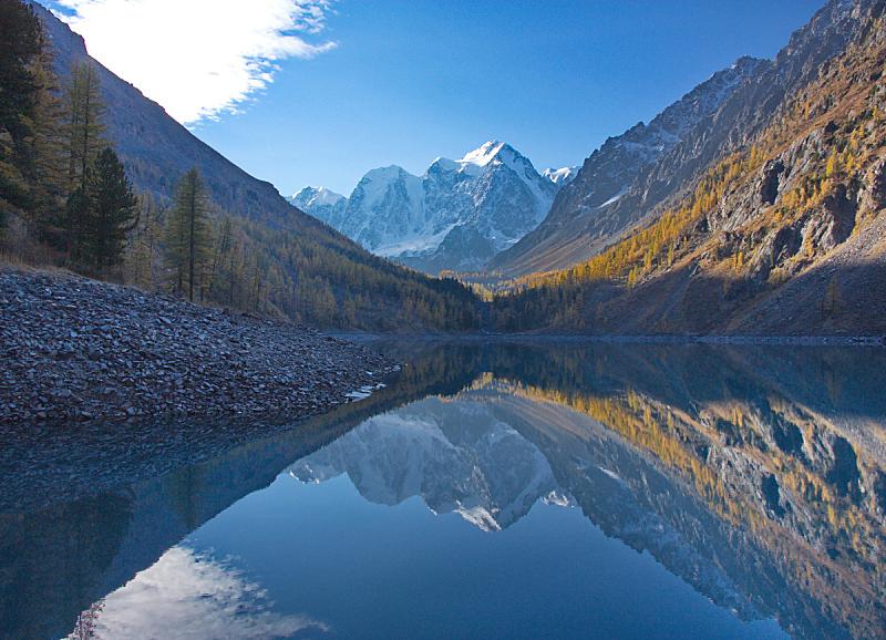 雪,湖,山顶,自然,水,天空,水平画幅,地形,秋天,无人