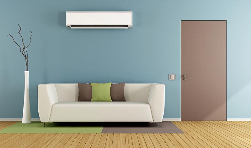空调,起居室,褐色,水平画幅,墙,无人,硬木地板,地毯,家具,现代