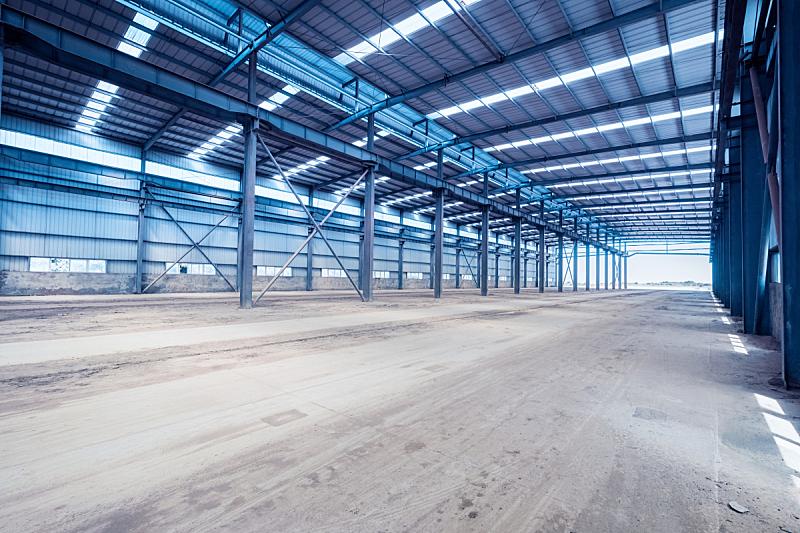 车间,钢铁,室内,建筑结构,仓库,边框,水平画幅,无人,古老的,工厂