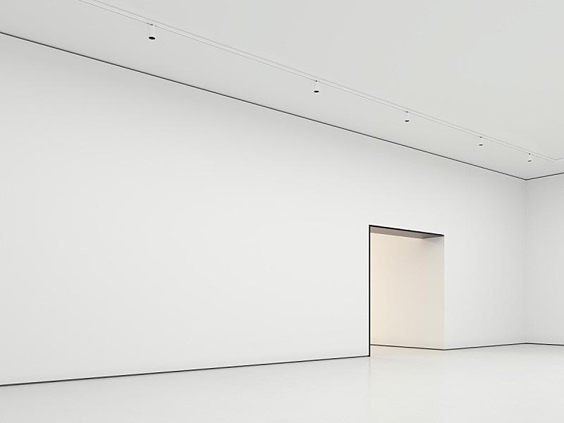 现代,住宅房间,三维图形,墙,白色,办公室,艺术家,边框,艺术,水平画幅