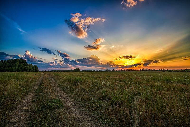 地形,夏天,自然,天空,水平画幅,无人,户外,草,太阳,看风景