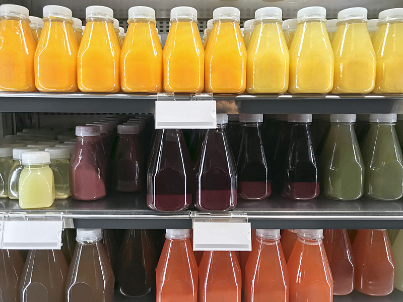 有机食品,果汁,商店,饮料,柠檬水,瓶子,清新,石榴,商务,零售店
