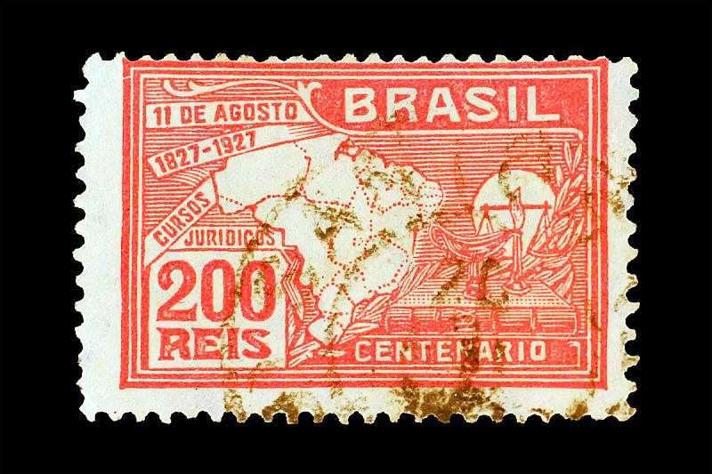 邮件,巴西,白色,红色,背景分离,一个物体,信函,图像,美洲