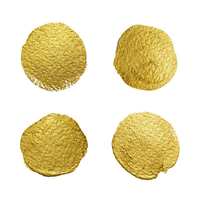 圆形,涂料,玷污的,肮脏的,纹理效果,黄金,画笔,橡皮章,封印,锦缎
