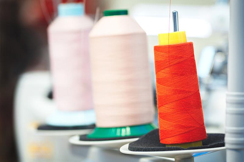 纺织品,工业,线,线轴,红色,制造机器,玫瑰,水平画幅,纤维,工厂