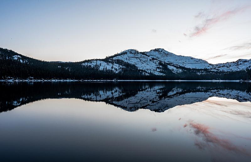 多那湖,黄昏,水,水平画幅,雪,无人,全景,户外,湖,加利福尼亚