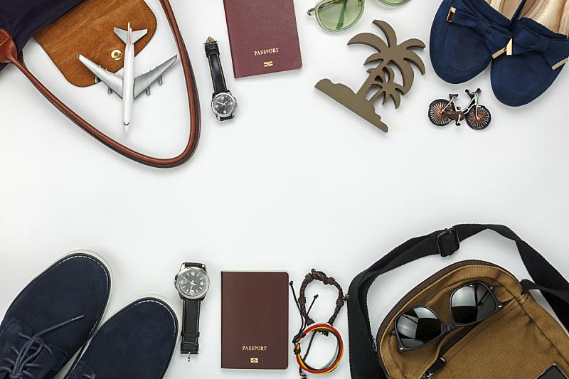 留白,女人,木制,男人,旅途,背景,个人随身用品,组物体,时尚,设计