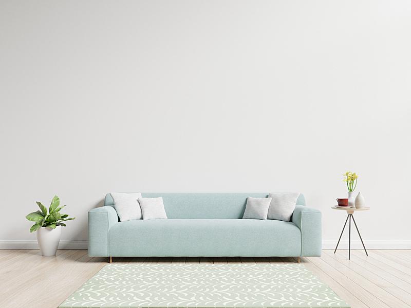 沙发,起居室,枕头,正面视角,座位,水平画幅,无人,家具,泰国,明亮