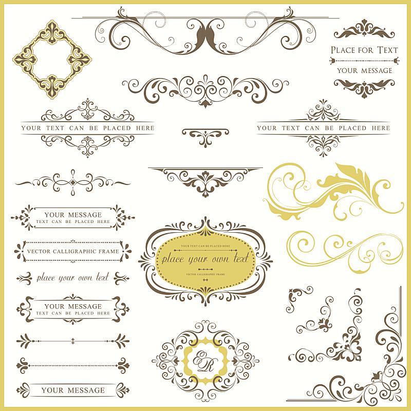 华丽的,结婚请柬,角落,漩涡形,请柬,菜单,高雅,维多利亚女王时代风格,古典式