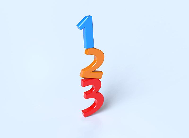 台阶,两个物体,数字1,三维图形,三个物体,贺卡,顺序系列,水平画幅,形状,野生动物跟踪标签