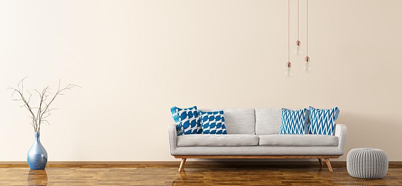 沙发,三维图形,室内,起居室,钩针编织品,座位,水平画幅,纺织品,墙,无人
