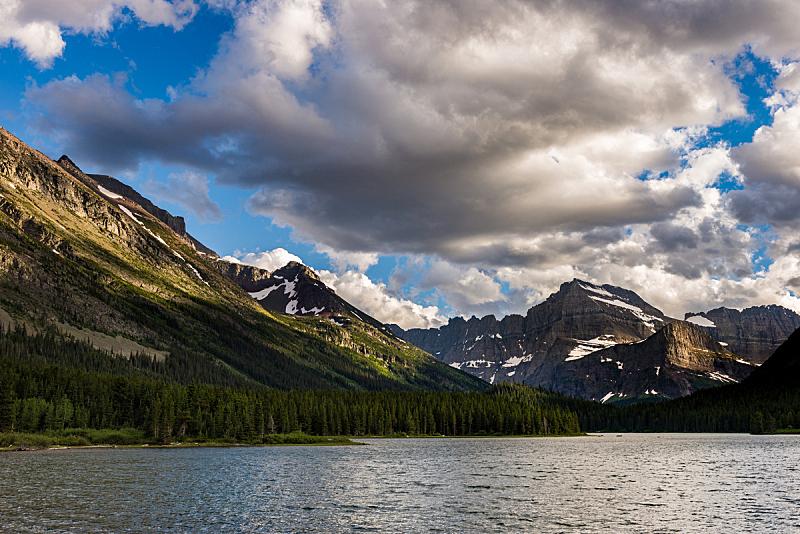 斯威夫特卡伦特湖,周末活动,国内著名景点,热,黄昏,圆木,湖,植物,河流,蒙大拿州