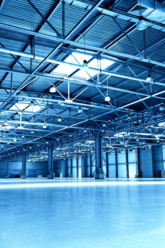 仓库,巨大的,空的,天花板,梁,垂直画幅,建筑,配送中心,无人,蓝色