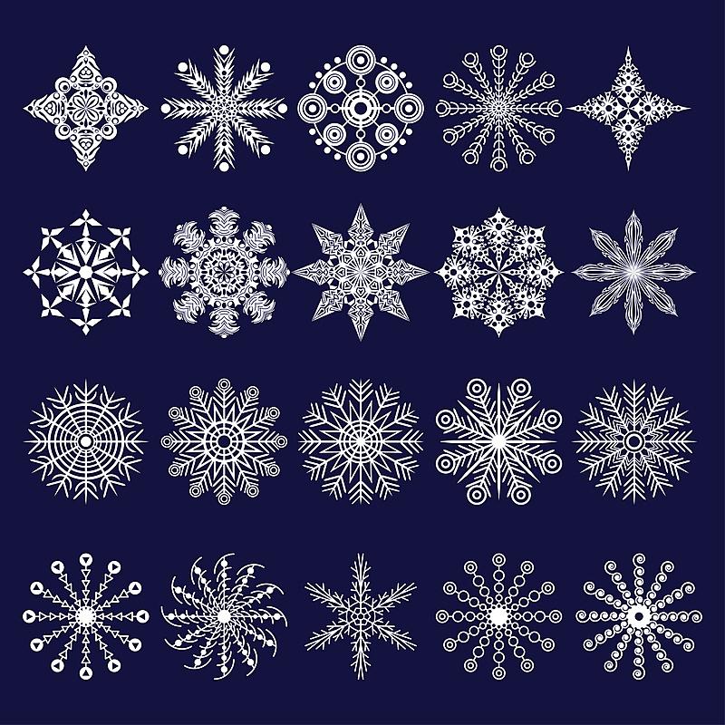 雪花,形状,雪,无人,绘画插图,符号,计算机制图,计算机图形学,图像