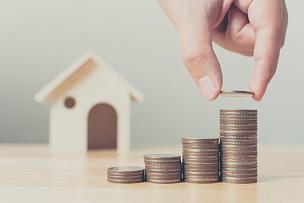 抵押文件,房地产,房屋,金融,木制,手,投资,叠,放置