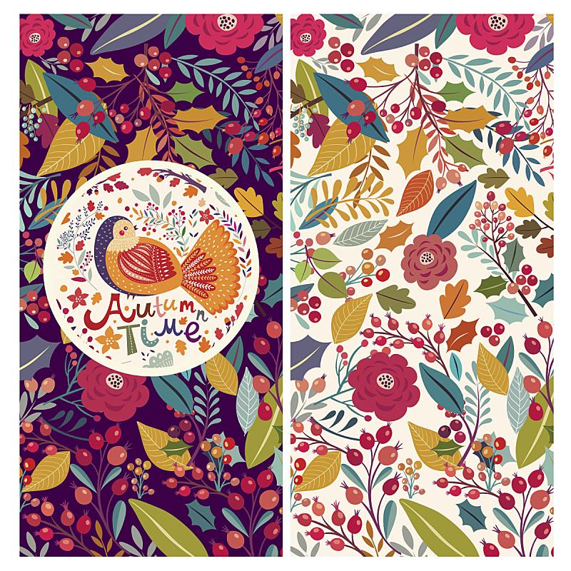 秋天,时间,玫瑰,华丽的,请柬,复古风格,鸟类,装饰物,背景,2015年