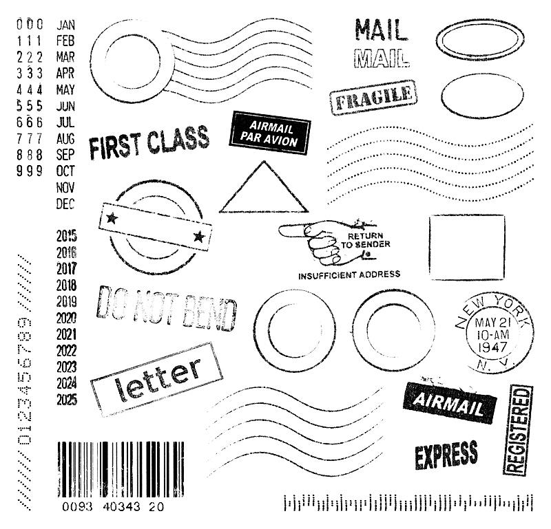 邮戳,橡皮章,航空邮件,邮件,封印,留白,古老的,古典式,月