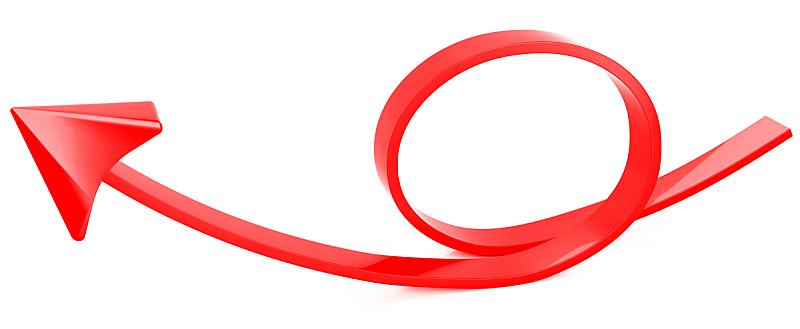 红色,箭头符号,商务,视角,背景分离,交通箭头标志,光标,银行,股市和交易所,三维图形