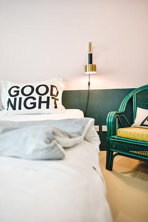 现代,舒服,室内,枕头,卧室,灯,华丽的,宾馆客房,华贵,泰国