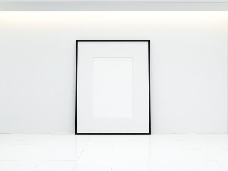 白色,空白的,室内,画廊,留白,水平画幅,墙,无人,图像