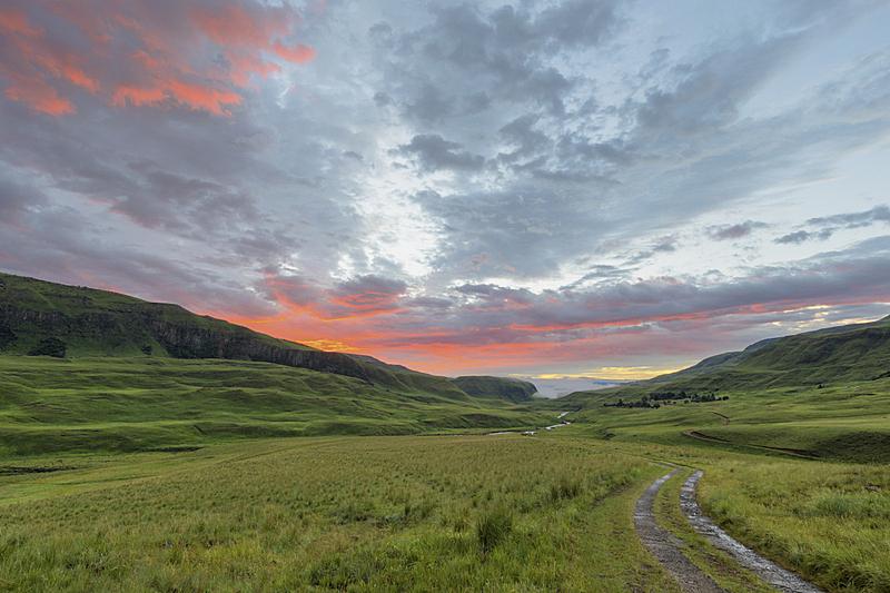 黎明,自然,水,水平画幅,绿色,云,地形,无人,蓝色,肯尼亚山脉