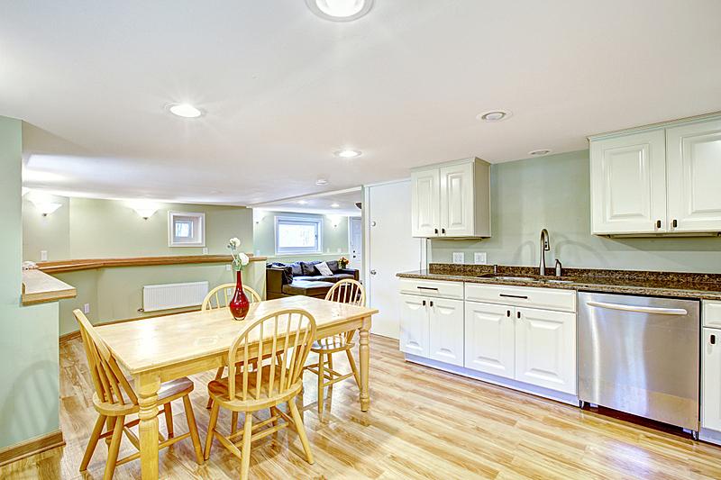 岳母,住宅房间,公寓,厨房,地下室,光,窗户,水平画幅,吧椅,建筑