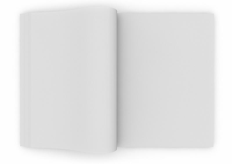 书,空的,数字2,白色,背景分离,一个物体,空白的,文档,图像