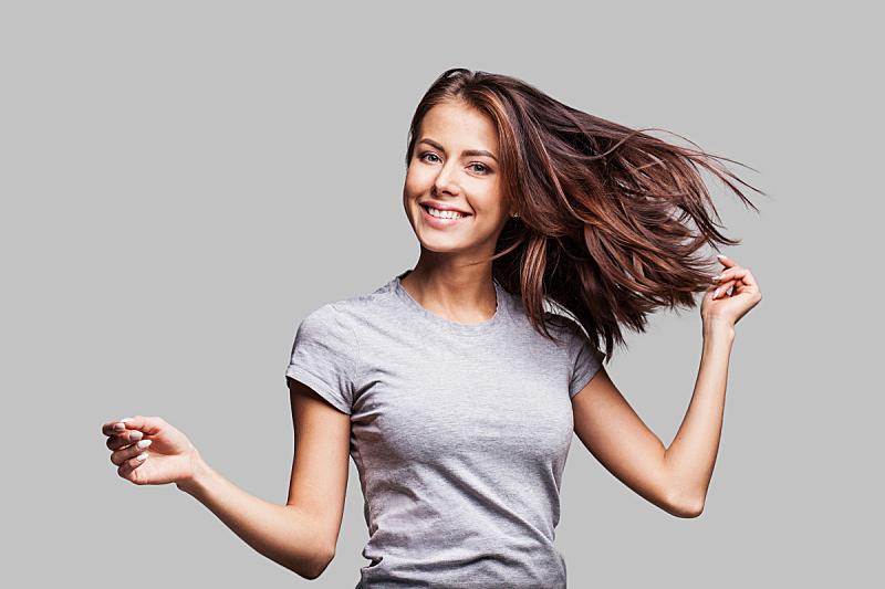 女人,情感,自然美,头发,棕色头发,长发,自由,美人,青年女人,美女