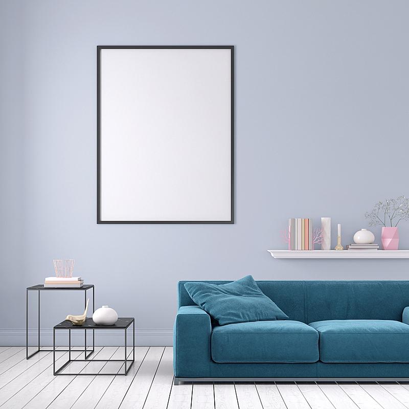 模板,沙发,柔和色,边框,空白的,留白,座位,无人,架子