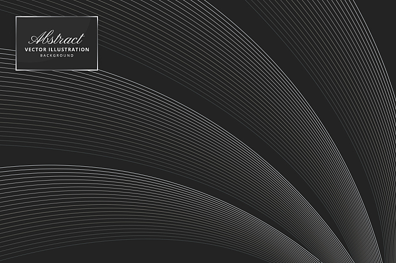 Abstract smooth wave line background