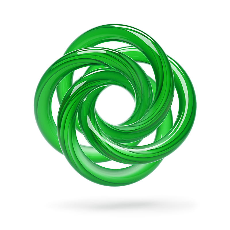 绿色,抽象,形状,无人,符号,玻璃,时尚,白色背景,几何形状,背景分离