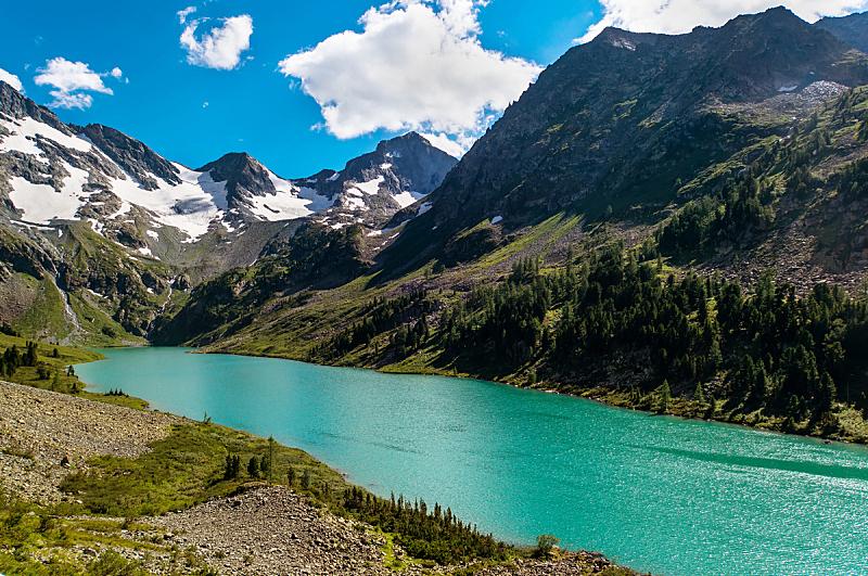 湖,山,青绿色,自然美,水,天空,美,水平画幅,雪,无人