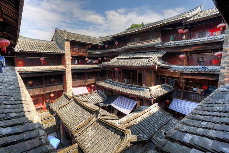 客家族,蒂卢,福建省,房屋建设,传统,永定,厦门,高动态范围成像,过去