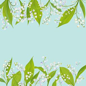 绘画插图,贺卡,边框,夏天,百合花,模板,矢量,春天,花,度假