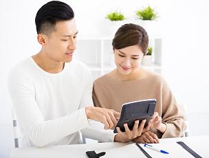 丈夫,家庭,妻子,金融,概念,计算机,婚姻,数,技术,东亚人