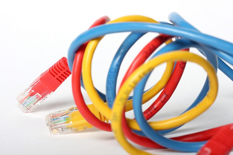 计算机电缆,水平画幅,无人,有线的,蓝色,背景分离,全球通讯,红色,联系,摄影