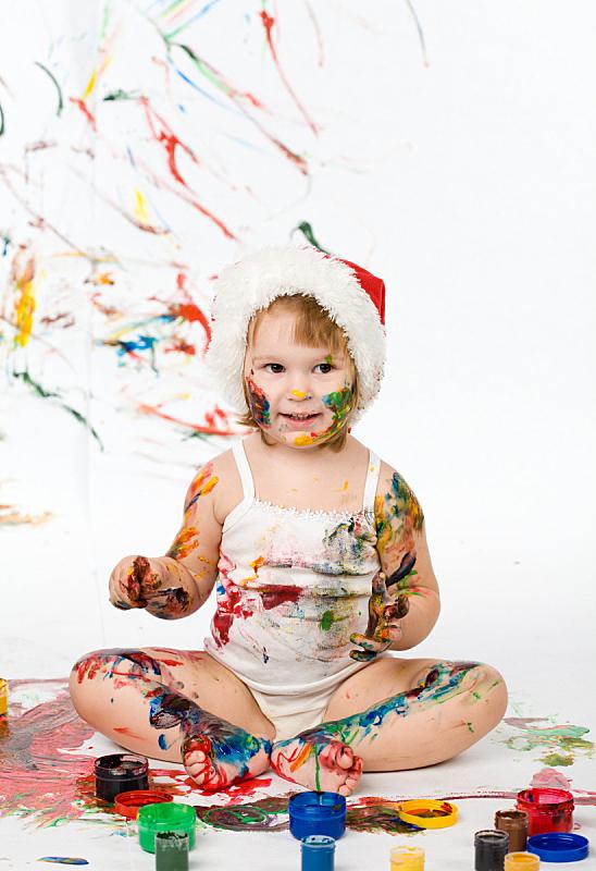 女孩,色彩鲜艳,垂直画幅,绘画插图,学龄前,休闲活动,进行中,白人,活动